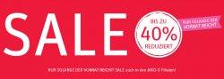 Sale mit bis zu 40% Rabatt bei Jako-O