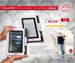 Tagesangebot: Tolles E-Book EB 12, 17.8cm TFT & 2GB für nur 49,99 €uro @Netto-Onlineshop