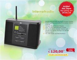 Tagesdeal, Internetradio IP touch für 120 €uro bei Netto-Onlineshop, nur heute