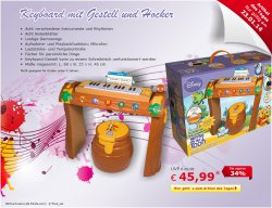 Winnie poo Keyboard mit Hocker für nur 45,99 €uro (Ideaol 64,95 €) @ Netto Online Shop