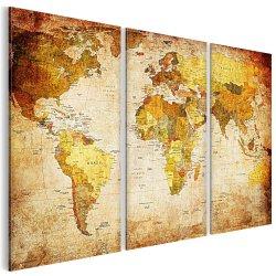 XXL Weltkarte auf 3-teilig Spannrahmen nur noch EUR 19,95 statt 40,89 @amazon