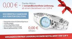 0,00€ Damenuhr aus feinstem Edelstahl (+4,95€ Versand) @silvity.de