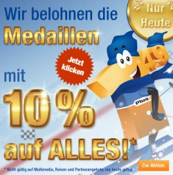 10% auf alles (außer Multimedia, Reisen) bei Plus.de – Nur heute!