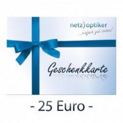 25€ Geschenkgutschein für 15€ bei netz)optiker