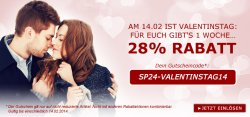 28% Rabatt-Gutschein [kein MBW] zum Valentinstag bei SP24.com – gültig bis 14.02.2014