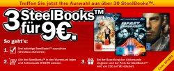 3 Steelbook Blu-ray, DVD statt 21€ für 9€ + Versandkosten 4,99€ dank Gustcheincode@ mediamarkt