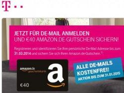 40 € Gutschein für Amazon oder 60 € Gutschein für Zalando bei kostenloser DE-Mail Registrierung @Telekom