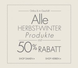50% Rabatt auf alle Herbst-Winter Produkte @Guess