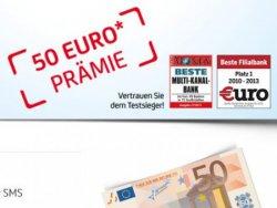 50€ Prämie für die Eröffnung eines kostenlosen Girokontos bei der HypoVereinsbank