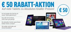 50€ Rabatt auf Tablets bei notebooksbilliger.de mit Gutschein (nur bei 0%-Finanzierung)