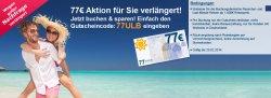 77 Euro Reise-Gutschein für Urlaub.de