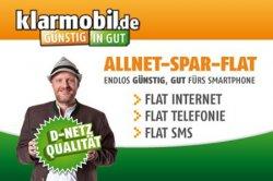 AllNet-Spar-Flat in bester D-Netz-Qualität von klarmobil für einmalig 9,99€ + 14,85€ monatl. @Groupon.de