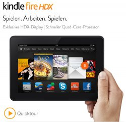 Amazon kontert notebooksbilliger: Kindle Fire HDX 7 WiFi 16GB für nur 189,00 Euro inkl. Versandkosten (statt 235,50 Euro bei Idealo)