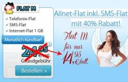 bis 17.02. nur 14,95€ statt 24,95€ AllNet Flat alle Netze, SMS Flat, 1GB Internet, monatl. kündbar @Deutschlandsim