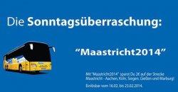 DeinBus-Gutschein für Fahrten von und nach Maastricht