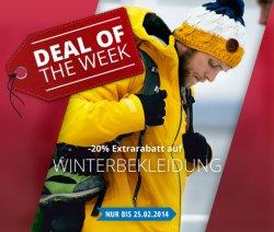 Engelhorn: 20% Extrarabatt auf Winterbekleidung