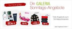 Galeria Kaufhof, die Sonntagsangebote, tolle Schnäppchen mit bis zu 54 % Rabatt