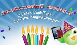 Hammer-Angebote zum 6. Geburtstag von zackzack