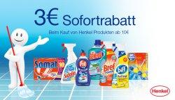 Henkel-Produkte für 10,- € kaufen und  3,- Euro Rabatt erhalten @AMAZON