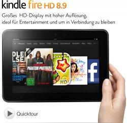 Kindle Fire HD 8.9-Tablet mit 32GB für nur 229€ (statt 299€) @Amazon