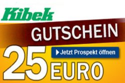 [ Lokal ] Kibek 25€ Gutschein mit 75€ MBW