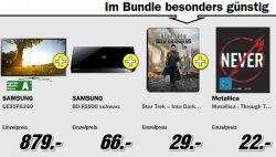 Samsung UE55F6340 46″ TV im Bundle mit Blu-ray Player und Filmen für 820€ @MediaMarkt [Idealo: ~1000€]