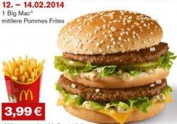 Neue Gutscheine ! z.B. 2 Chickenburger, Pommes + Softdrink für 3,49 € @McDonalds Deutschland