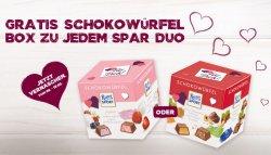 Ritter Sport Schokowürfel Box gratis zu jedem McCafé Spar Duo