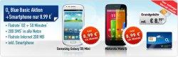 Samsung Galaxy S3 Mini oder Motorola Moto G (je1 € Zuzahlung) + Internet Flat + 200SMS + 50 Freiminuten im o2 Netz nur 8,99 € mtl. @eBay