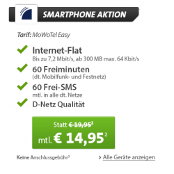 Sparhandy WEEKEND DEAL: Sony Xperia Z Ultra für 1€ | 14,95€ mtl. D-Netz