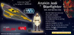 Tagesdeal @ Netto Onlineshop, StarWars Anakin Jedi Starfighter für 22,99 €uro ( Ideaol 29 €uro)
