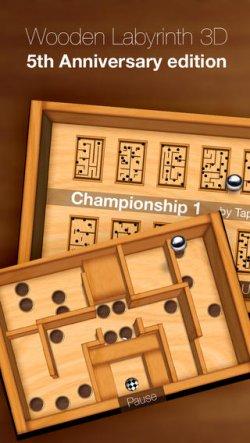 Wooden Labyrinth 3D + Championship Levels Freischaltcodes statt 0,89€ kostenlos für iPhone @iTunes