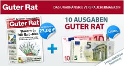 1 Jahr Abo Guter Rat für 8€ durch 15€ Verrechnungscheck @ burda.emsecure