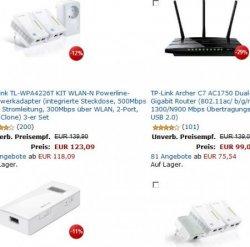 10€ Rabatt mit Gutschein beim Kauf von TP-LINK Netzwerk-Router, -Repeater und Adapter @Amazon