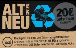 20 Euro Gutschein für ein Foto eurer alten Sneakers bei Planet Sports