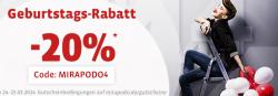 20% Rabatt dank Gutscheincode bei Mirapodo