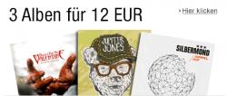 3 MP3-Alben für zusammen nur 12,00 Euro bei Amazon nur dieses Wochenende