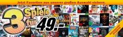 3 Spiele für 49 Euro mit Gutscheincode bei Mediamarkt