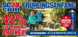 42% auf alle Runningartikel mit Gutschein + eine SC24.com Trinkflasche GRATIS ab 49 Euro Rechnungsbetrag