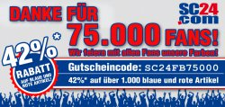 42% Rabatt auf über 1.000 rote und blaue Artikel bei SC24.com