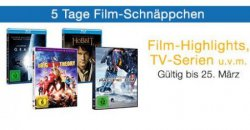 5 Tage Film-Schnäppchen – für 30€ kaufen und 5€ sparen, z.B. Man of Steel auf Blu-ray für 7,97€ @Amazon