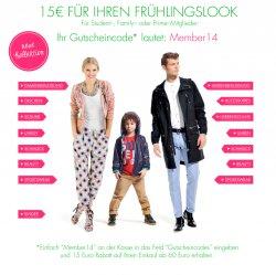 Amazon.de – 15 € Gutschein für den neuen Frühlingslook – MBW: 60€ (  Amazon Student, Family oder Prime Mitglieder)