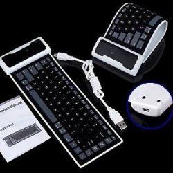 Aufrollbare Bluetooth Tastatur mit Akku für 8,58€ @ebay [Versand aus China]