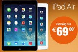 Bei logitel.de: Otelo 3GB Datenflat mit 7.2MBit/s inkl. iPad Air WiFi+4G für nur 19,99€ mtl. + 69€ einmalig für das iPad