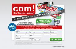 Computer Magazin com! Jahresabo für rechnerisch 9,88 € statt 59,88 Euro @Magclub