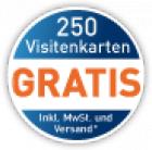 easyprint: 250 selbst gestaltete Visitenkarten komplett kostenlos inc. Versand