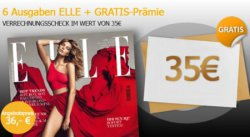 Elle im Halbjahresabo für effektiv 1€ dank 35€ Verrechnungsscheck