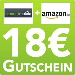 freenetMobile SIM Karte inkl. 15€ Startguthaben + 18€ AMAZON GUTSCHEIN nur 4,95 € @eBay.de