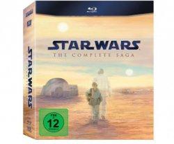 Für Fans sicher ein Schnäppchen: Star Wars The Complete Saga I–VI in der Blu-ray Box für 66€ bei saturn.de (event. +1,99€ Porto)