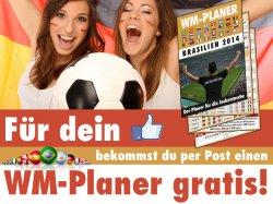 Gratis: 8-seitigen WM Planer für ein Facebook-Like